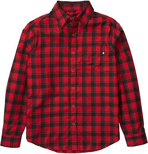 Marmot Bodega męska koszulka z długim rękawem, flanelowa, z długim rękawem, z ochroną przed promieniowaniem UV, oddychająca czerwony Dark Fire S