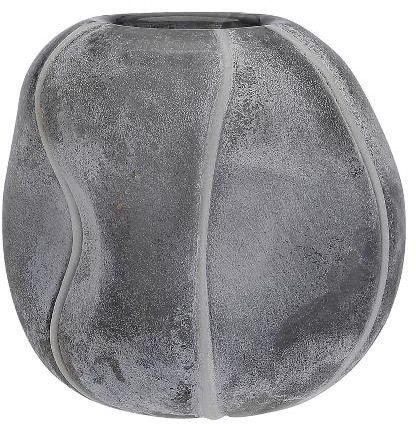 A Simple Mess MIV Szklany Wazon do Kwiatów 13 cm Szary Smoked Pearl