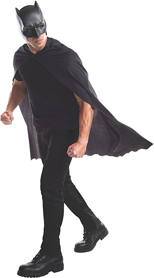 Rubie''s Oficjalna maska i peleryna z Batmanem dla dorosłych - jeden rozmiar, czarna