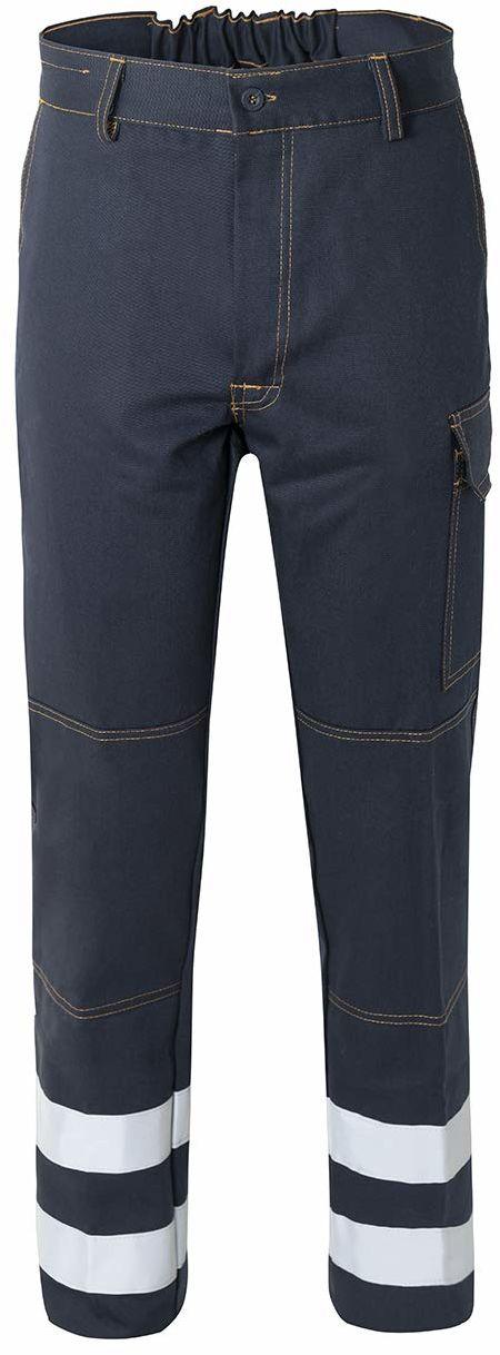 Rossini Trading A00106 uniseks spodnie dla dorosłych z odblaskowymi paskami, uniseks - dorośli, A00106, niebieski, L