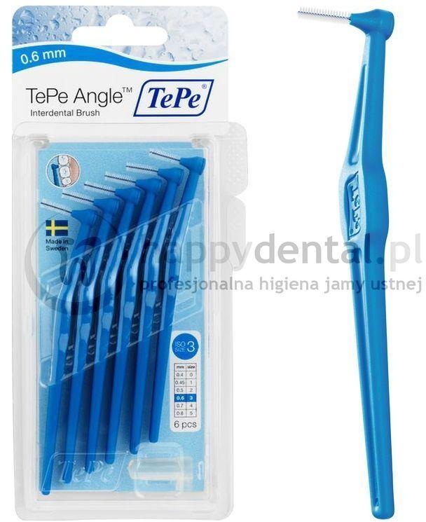 TEPE ID Angle (0.6mm) niebieski 6szt. - zestaw szczoteczek międzyzębowych (szczoteczki w wersji ANGLE)