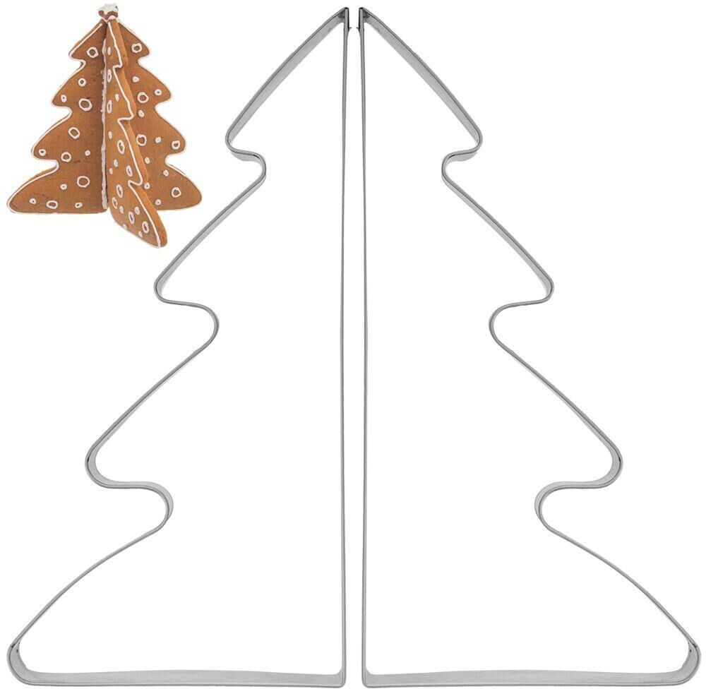 Wykrawacz 3D do ciastek pierników CHOINKA 2 el. foremka Święta Boże Narodzenie