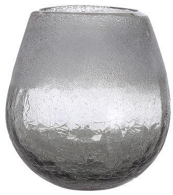 A Simple Mess ROROS Szklany Wazon do Kwiatów 10 cm Szary Smoked Pearl