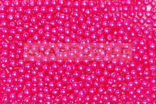 perełki dekoracyjne 6mm 70g kolor różowe