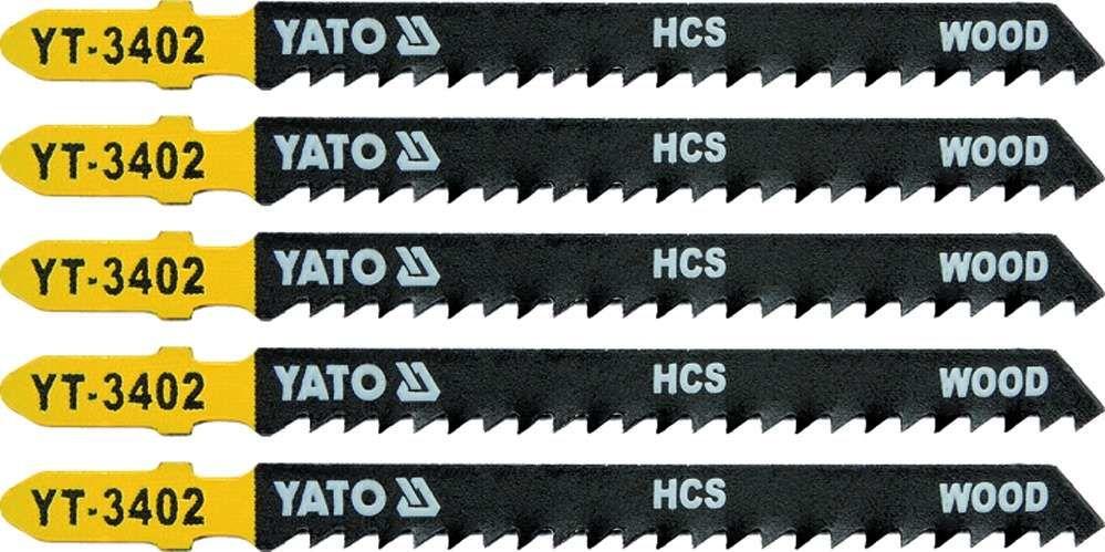 Brzeszczot do wyrzynarki typ t, 8 tpi, do drewna, 5 szt Yato YT-3402 - ZYSKAJ RABAT 30 ZŁ