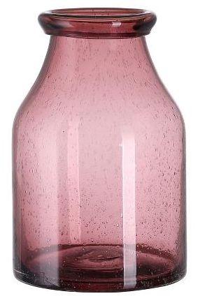 A Simple Mess ALTA Szklany Wazon do Kwiatów 25 cm Różowy Deco Rose