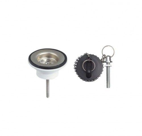 Spust syfonu umywalki z korkiem z łańcuszkiem, 1 1/4'' x 62 mm