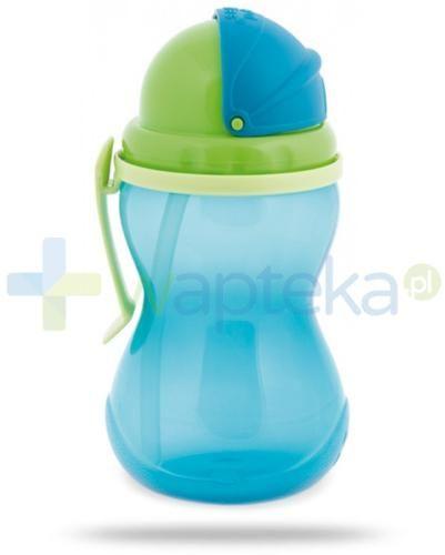 Canpol Babies bidon ze składaną rurką dla dzieci 12m+ niebieski 370 ml [56/113_blu]