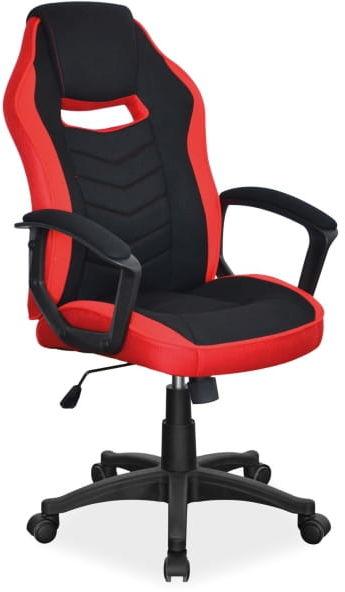 Fotel obrotowy CAMARO czerwony/czarny gamingowy