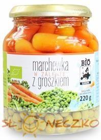Marchewka z zalewie z groszkiem BIO 340 g (220 g) Bio Europa