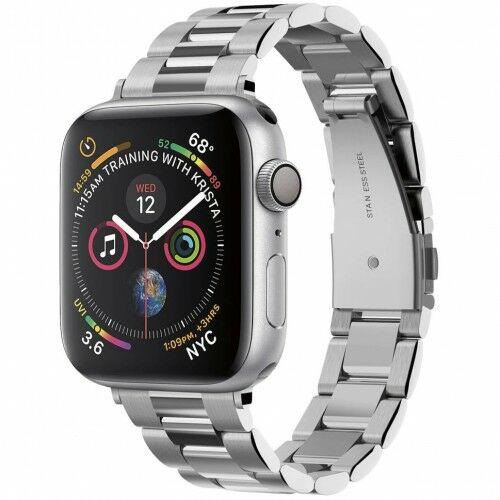 Pasek Spigen Band Modern Fit Apple Watch 40 SE/6/5/4 / 38mm 3/2/1, srebrny