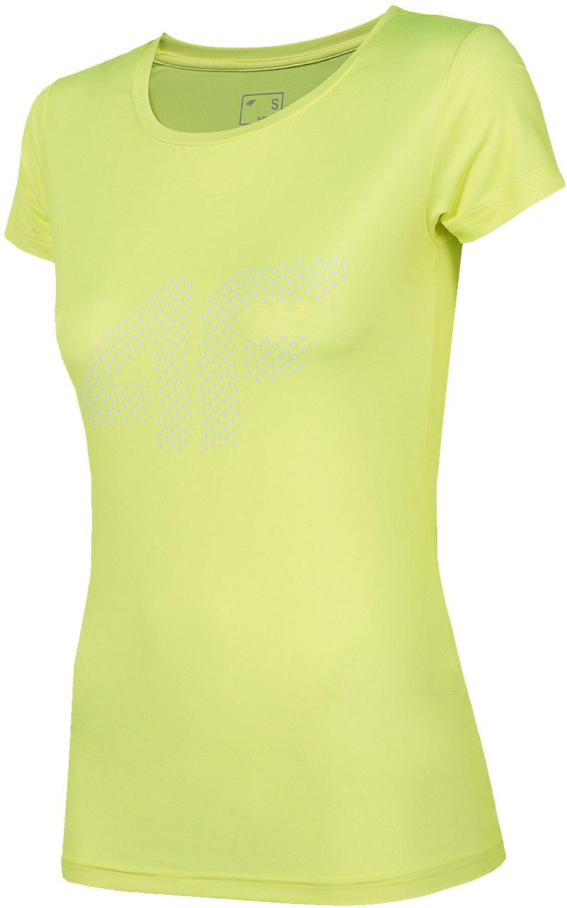 Koszulka funkcyjna damska 4F TSDF004 - soczysta zieleń neon (NOSH4-TSDF004-45N)