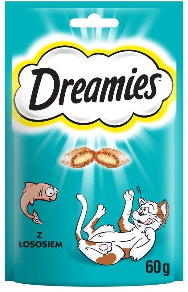 Dreamies z Wyśmienitym Łososiem 6x 60g
