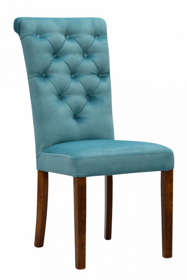 Pikowane krzesło tapicerowane z kołatką - Ewers 68 kolorów