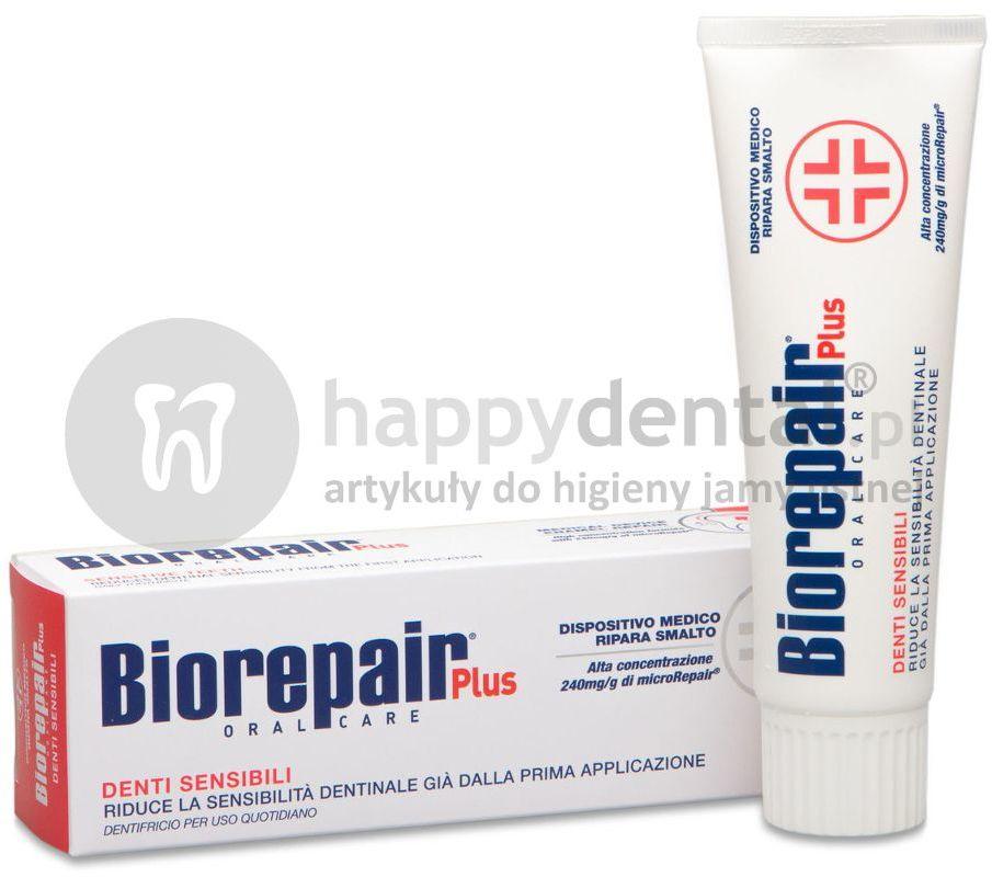 BIOREPAIR Wrażliwe Zęby 75ml - pasta przy nadwrażliwych zębach naprawiająca powierzchnię szkliwa w ulepszonej formule