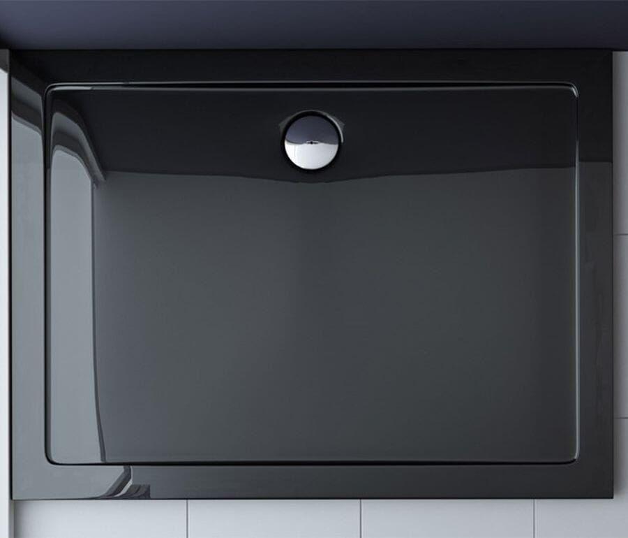 Brodzik prostokątny 80x120 Breno Black Rea
