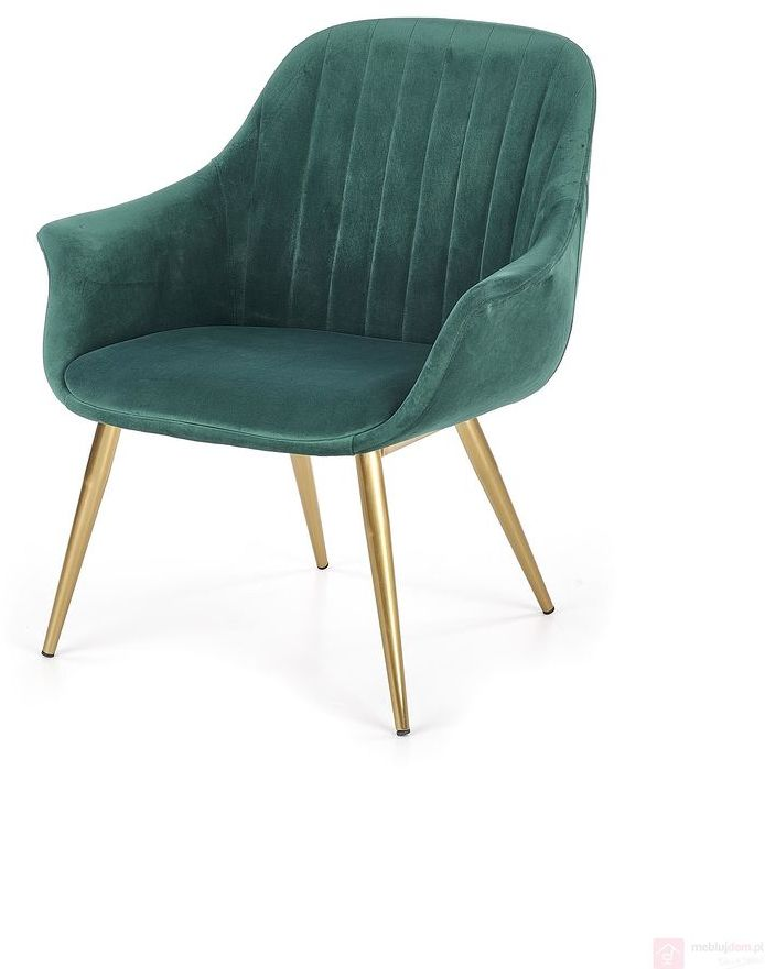 KUPON 10% NA STRONIE  Fotel ELEGANCE 2 Halmar Zielony ciemny