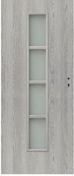 Drzwi pokojowe Olga 80 lewe dąb szary