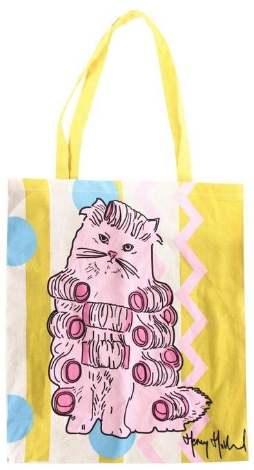 Torba materiałowa na zakupy PINK CAT