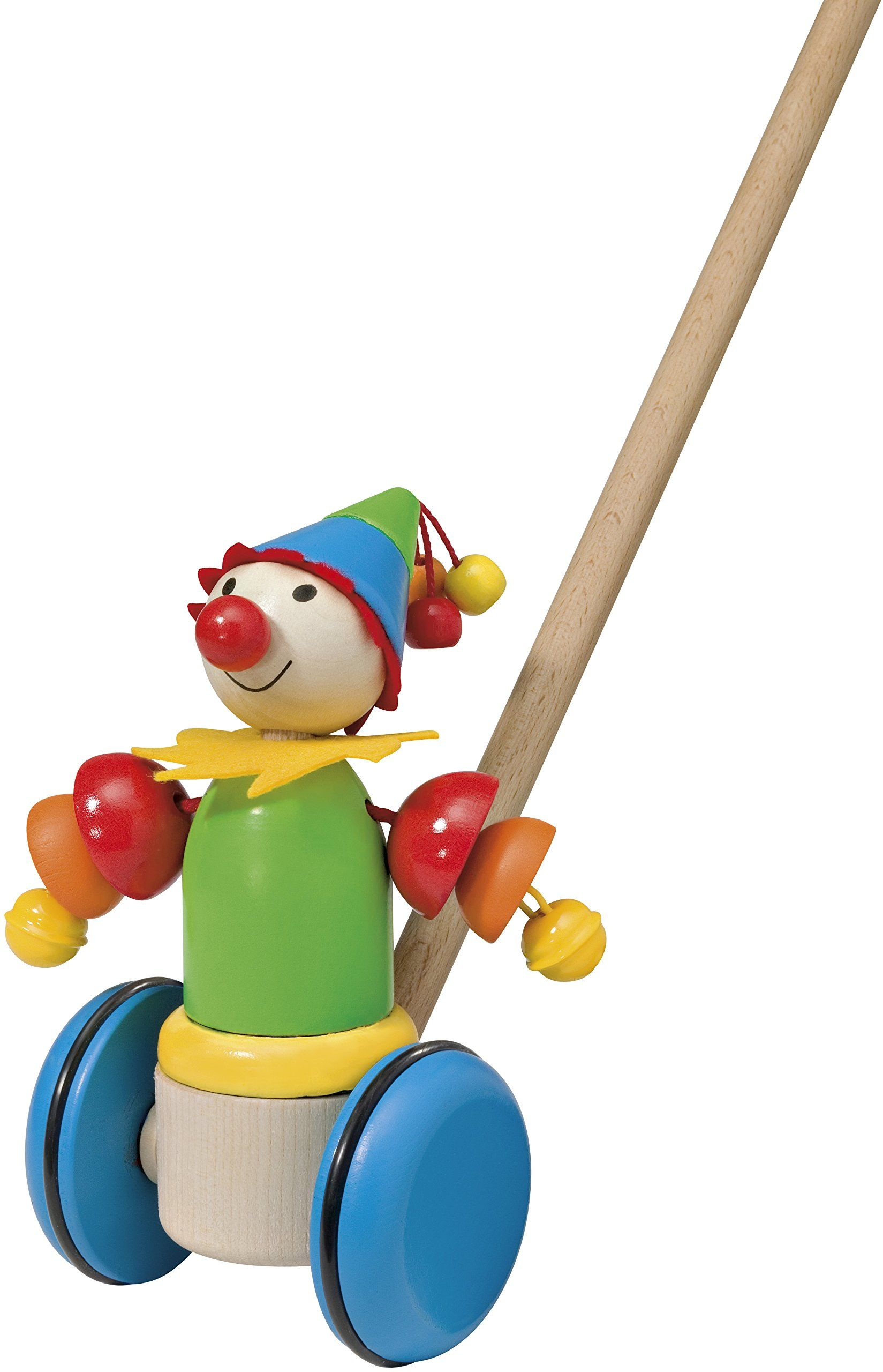 Selecta 62034 Schiebefigur Smillo, drewniana zabawka do pchania, 17 cm