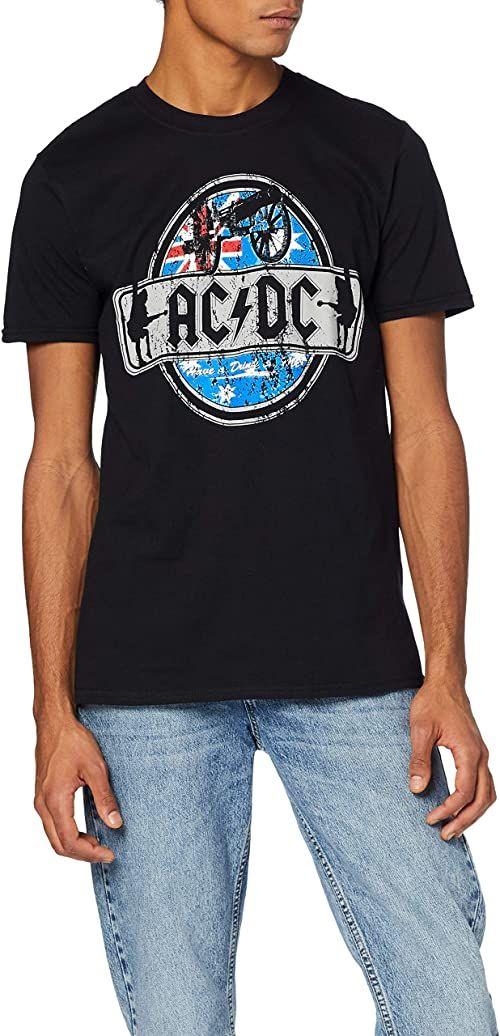 100%; t-shirt; dc; koszulka; oryginalny; acdc; nadruk; bawełna; ac; damska; okrągły; rock
