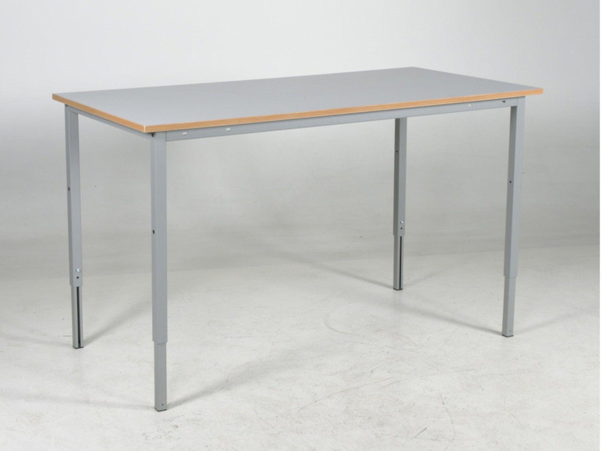 Stół roboczy warsztatowy, regulowany manualnie, blat 1600mm, 150 kg