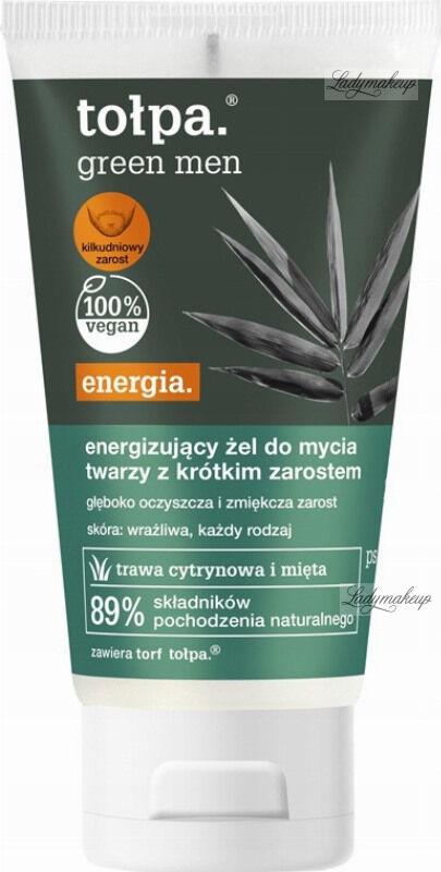 Tołpa - Green Men - Energetyzujący żel do mycia twarzy dla mężczyzn z krótkim zarostem - 150 ml
