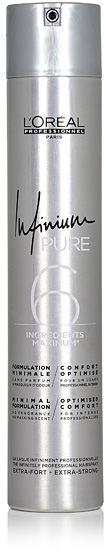 Loreal Infinium Pure Extra Strong Bezzapachowy lakier do włosów - Extra Strong 500 ml