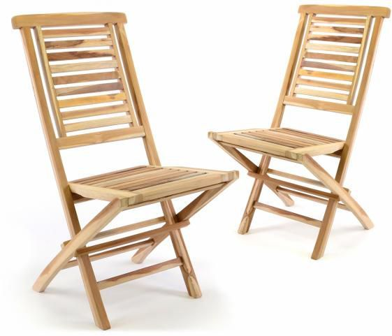 """Zestaw 2 sztuk DIVERO """"Hantown"""" składane krzesło ogrodowe"""