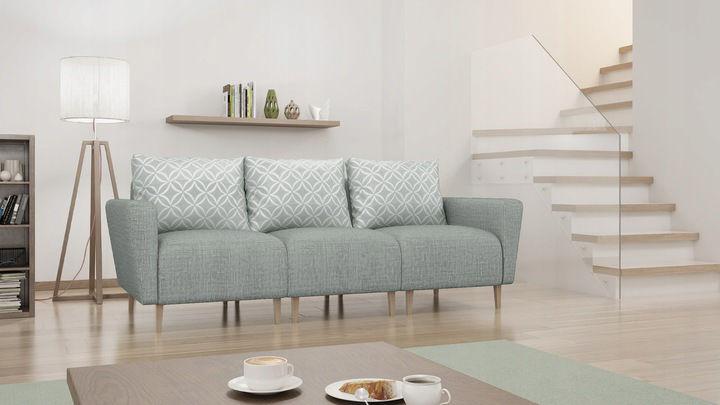 Sofa EVO skandynawska na drewnianych nogach