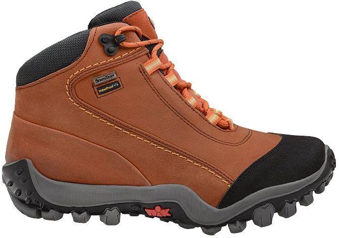Trzewiki trekkingowe NIK 08-0048-004 Pomarańczowe Buty SympaTex - Pomarańczowy