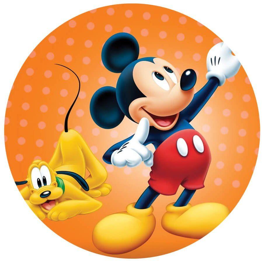 Dekoracyjny opłatek tortowy Myszka Miki - 20 cm