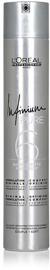 Loreal Infinium Pure Soft Bezzapachowy lakier do włosów - Soft 500 ml
