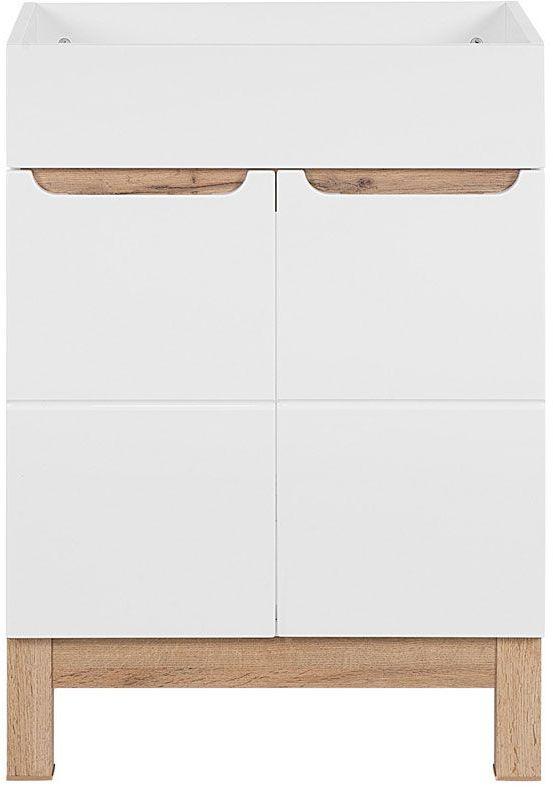 Szafka pod umywalkę Marsylia 3X 60 cm - Biały połysk
