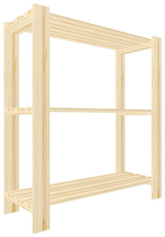 Regał drewniany PIWNICZNY 90 x 80 x 30 cm