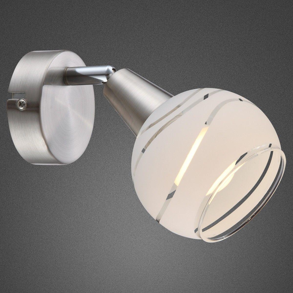 Globo kinkiet lampa ścienna Elliott 54341-1 nikiel mat LED 5W 3000K