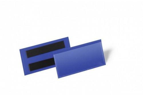 Kieszeń magazynowa magnetyczna DURABLE 100x38mm niebieska (50szt.) 174107