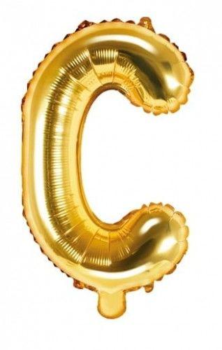 Balon foliowy w kształcie litery C, złoty