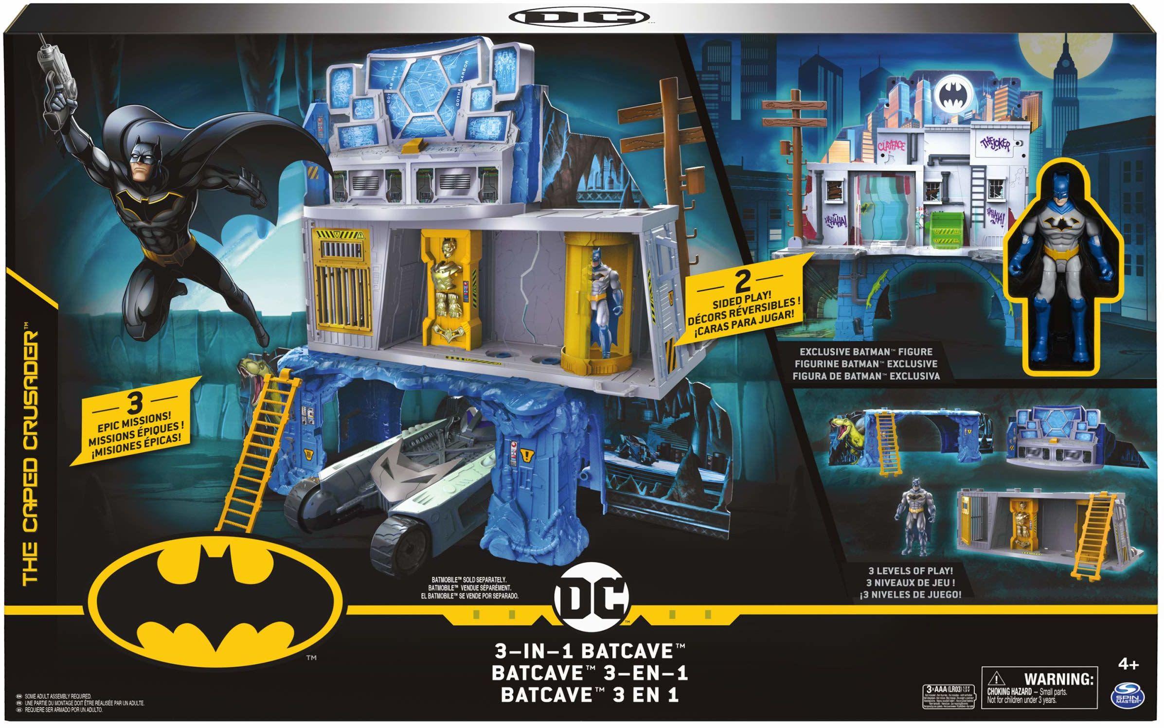BATMAN Zestaw do gry 3 w 1 z ekskluzywną 10 cm figurką BATMAN