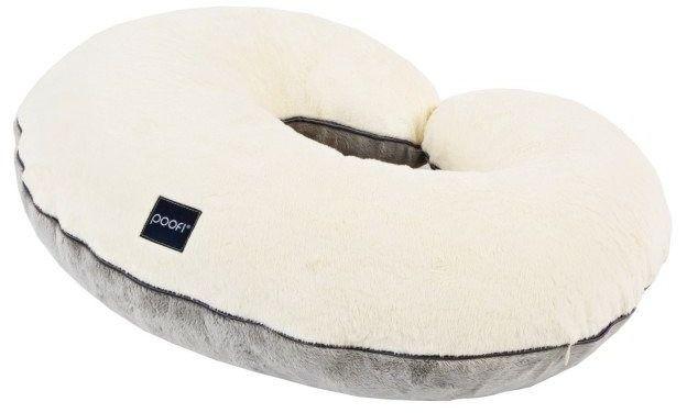 Poduszka do karmienia niemowląt kremowo-szara