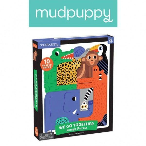 Mudpuppy Puzzle Układanka Wszyscy Razem Dżungla 10 Elementów 3+