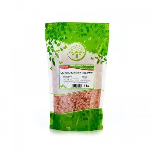 Sól himalajska różowa średnioziarnista 1 kg