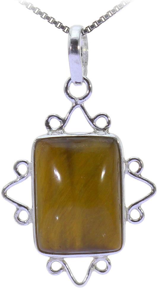 Kuźnia Srebra - Zawieszka srebrna, 35mm, Tygrysie Oko, 3g, model
