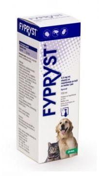 Fypryst Spray na Skórę dla Psów i Kotów Przeciw Pchłom i Kleszczom 100 ml