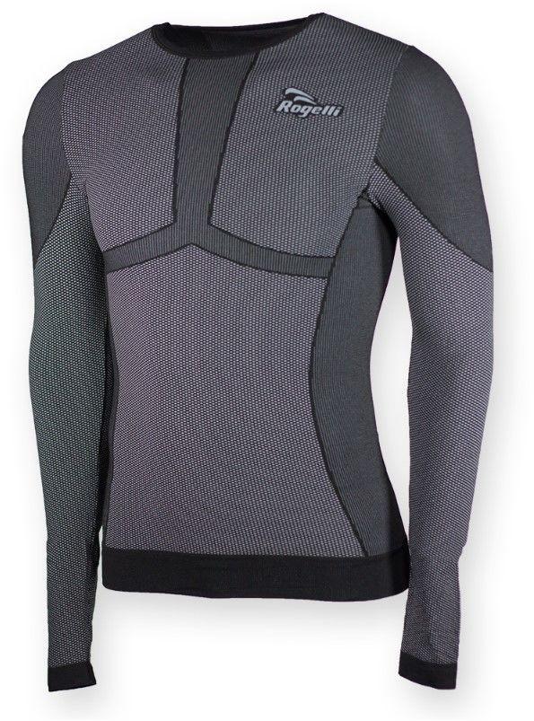 Rogelli CHASE męska bielizna koszulka termoaktywna z długim rękawem, czarna Rozmiar: 2XL,070.009