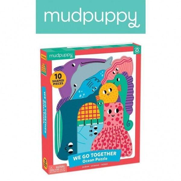 Mudpuppy Puzzle Układanka Wszyscy Razem Ocean 10 Elementów 3+