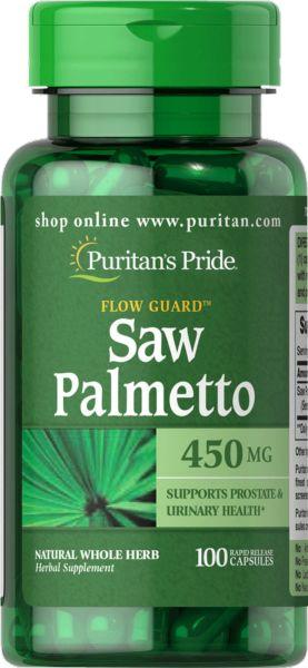 Saw Palmetto Puritan''s Pride, 450mg, 100 kapsułek