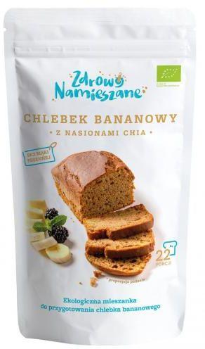 Chlebek bananowy z nasionami chia BIO 400 g Zdrowo Namieszane