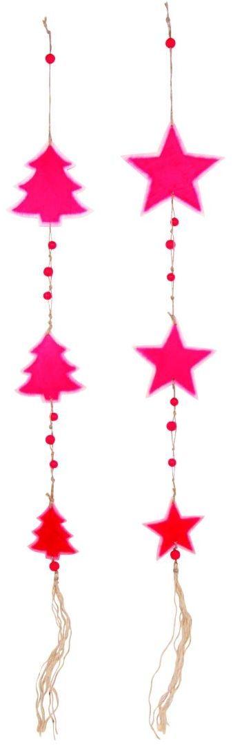 Legler drewniane mobilne gwiazdy i choinki NS czerwone