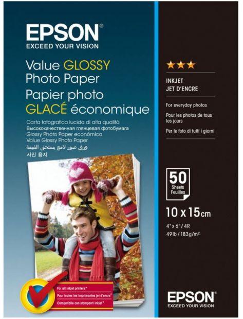 Papier fotograficzny Epson Value Glossy Photo Paper 183 g/m2 - 10x15, 50 arkuszy (C13S400038)